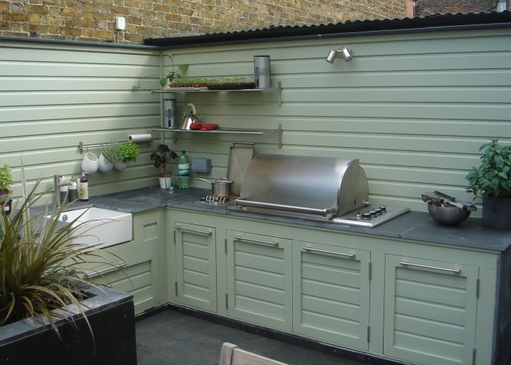 Outdoor kitchen, July 2008