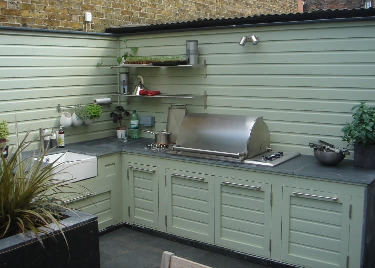 Outdoor kitchen, July 2008