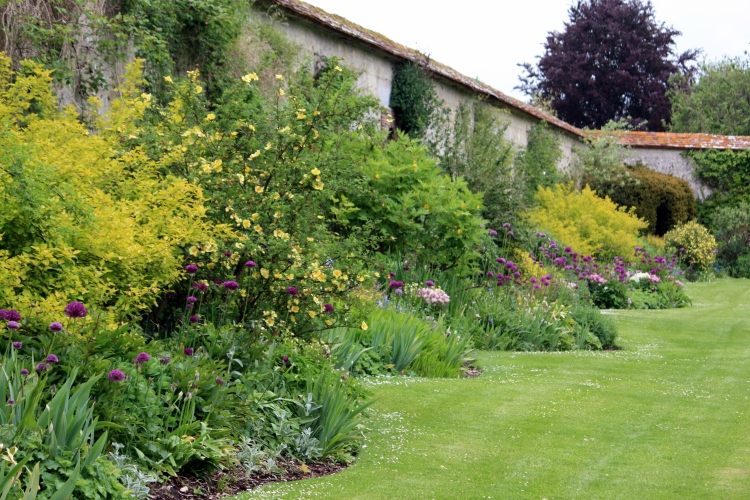 Herbaceous border, Houghton Lodge, Hampshire, May 2013