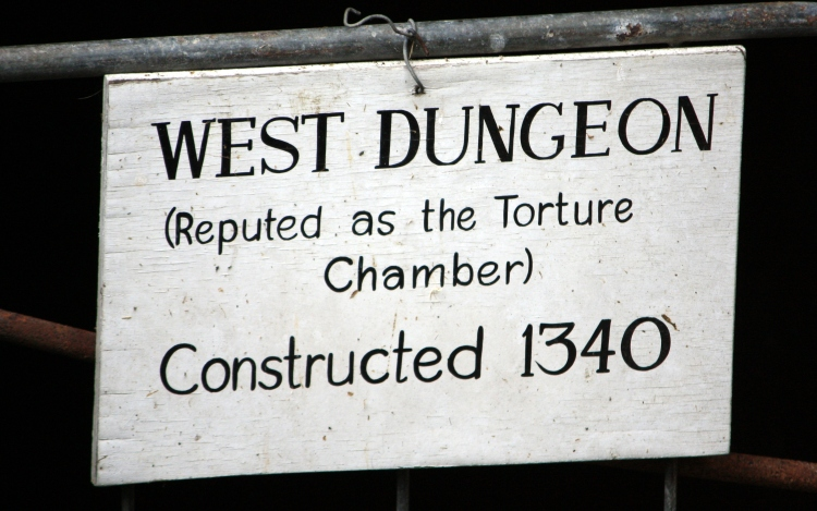 West Dungeon, Saltwood Castle, May 2013