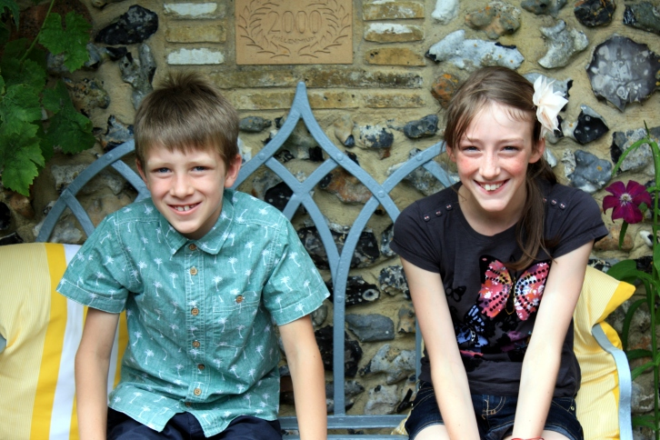 Jack and Scarlett at 3 Stone Road, Broadstairs, Aug 2013