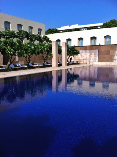 The swimming pool, The Trident, Gurgaon, India