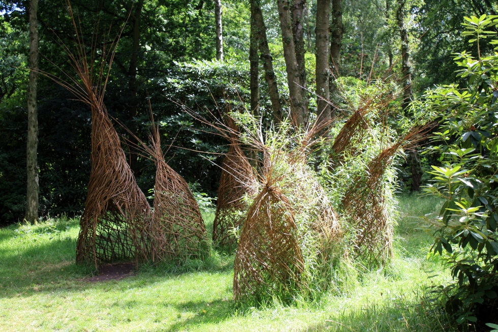 Willow sculptures, RHS Harlow Carr,  July 2013