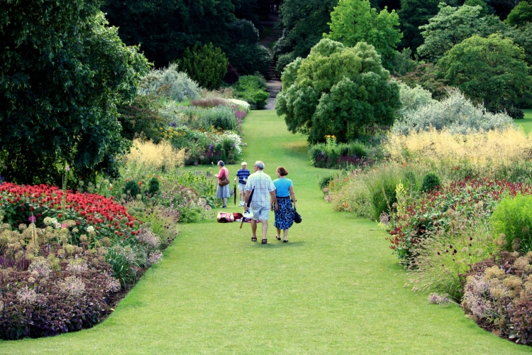 The main borders at RHS Harlow Carr, Harrogate, Yorkshire