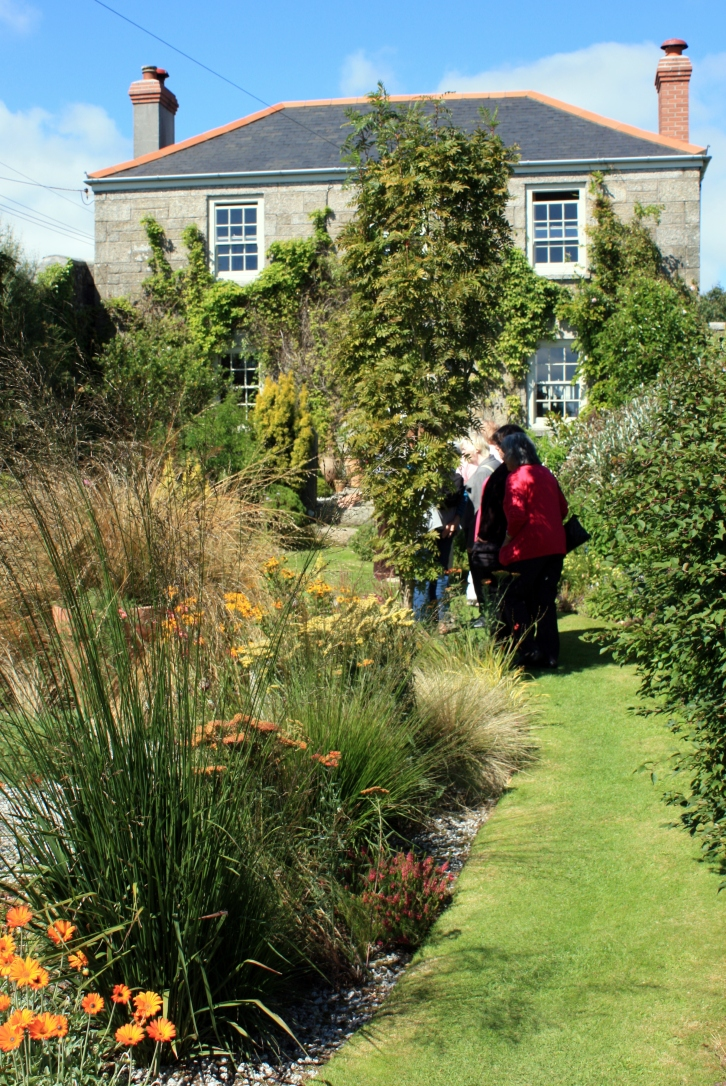 Bucks Head House Garden Trengove Cross, Constantine, Cornwall,  August 2013