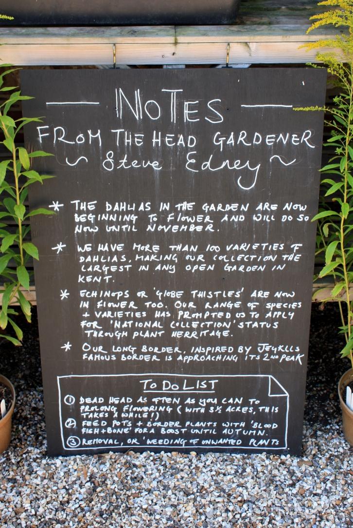 Notes from the Head Gardener, Steve Edney, The Salutation, Sandwich