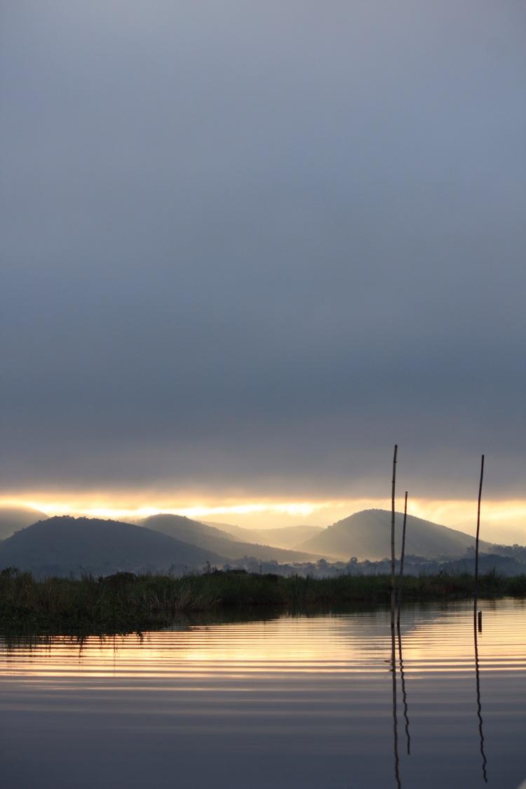 Dawn on Inle Lake, Burma, October 2012