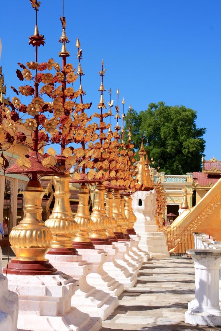 Shwezigon Pagoda, Bagan, Burma, October 2012