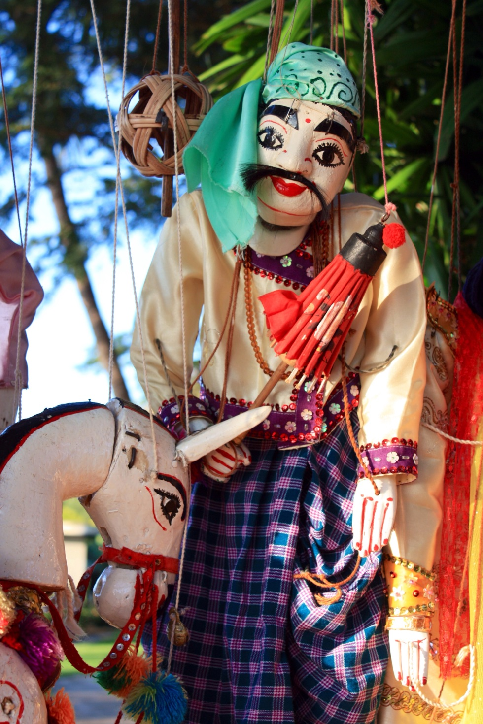 Traditional Burmese puppet, Bagan, Burma, October 2012