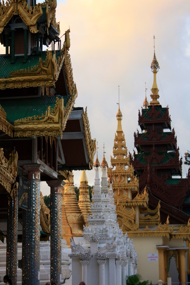 Inside the Shwedagon Pagoda, Yangon, Burma, October 2012