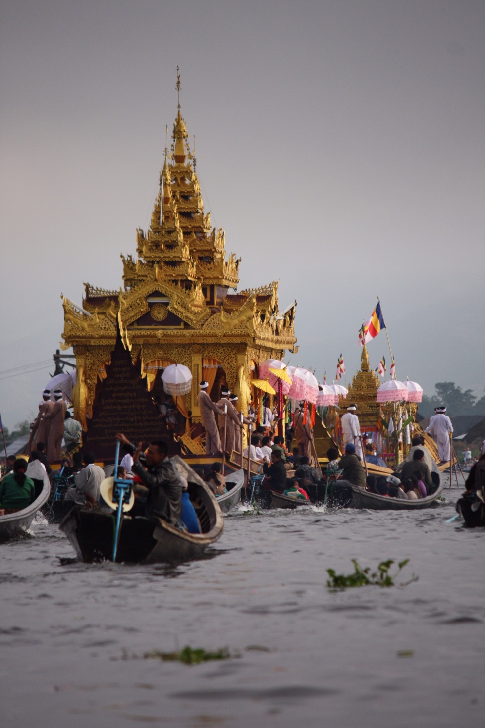 Ceremonial barge, Phaung Daw Oo Pagoda Festival, Inle Lake, October 2012