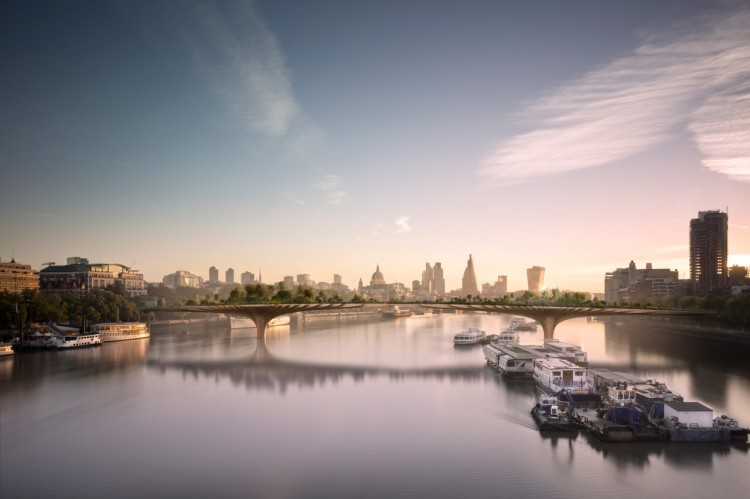The Garden Bridge, London.  Thomas Heatherwick, 2013