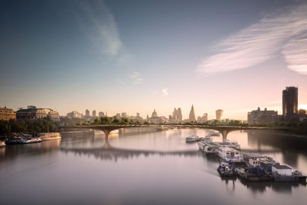 The Garden Bridge, London.  Thomas Heatherwick, 2013