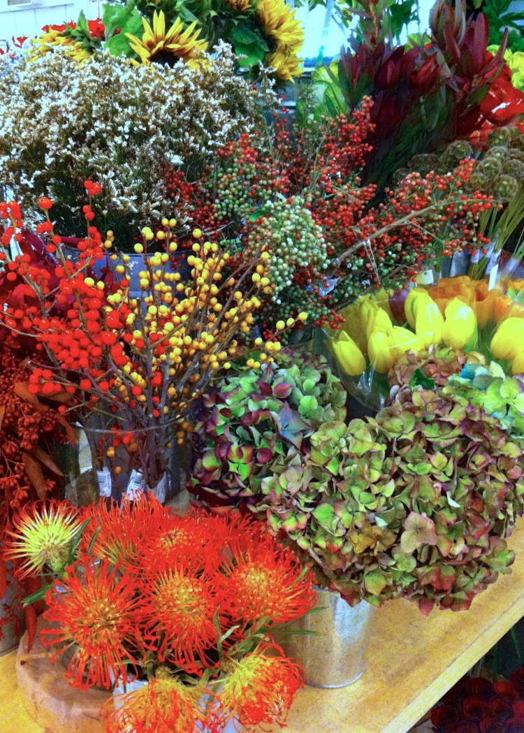 Autumn flowers at Dean and Deluca on Broadway, New York