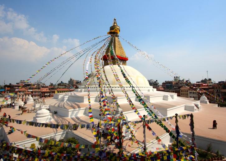 Boudhanath Stupa (or Bodnath Stupa) , Kathmandu, Nepal, March 2013