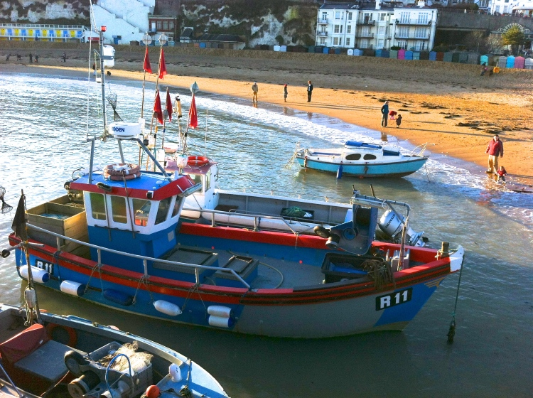 Boats in Broadstairs Harbour, January 2014