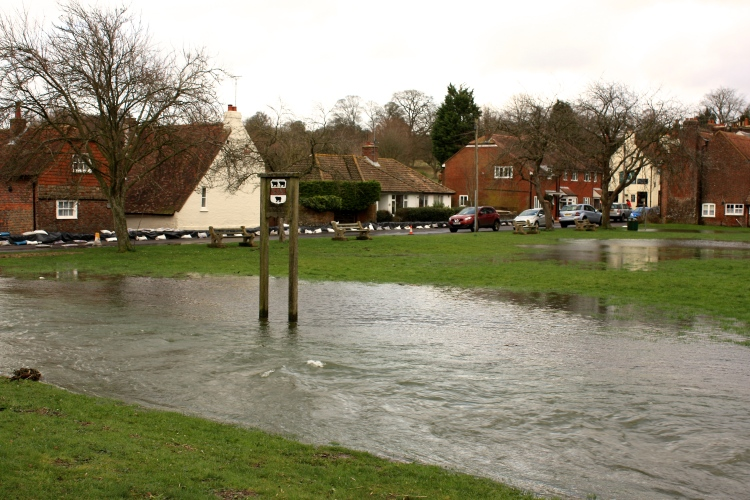 Barham, Kent, Nailbourne flooding, Feb 2014