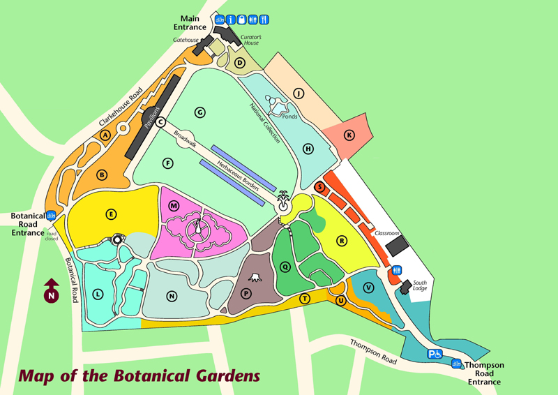 Map of Sheffield Botanical Gardens