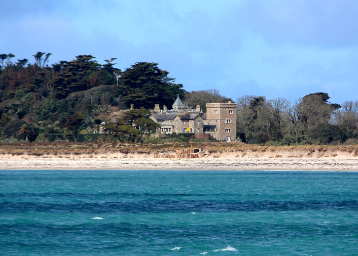 Tresco Abbey from Scillonian III, April 2014
