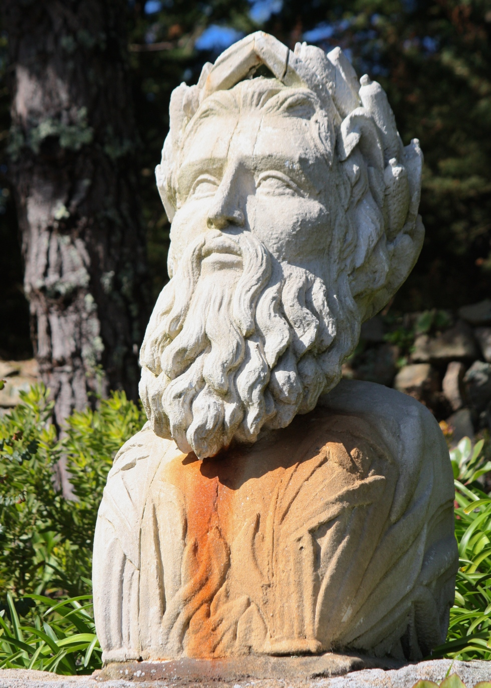 Neptune, Tresco Abbey Gardens, April 2014