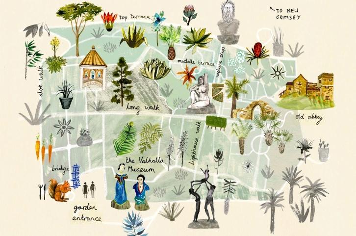 Tresco Abbey Gardens Map