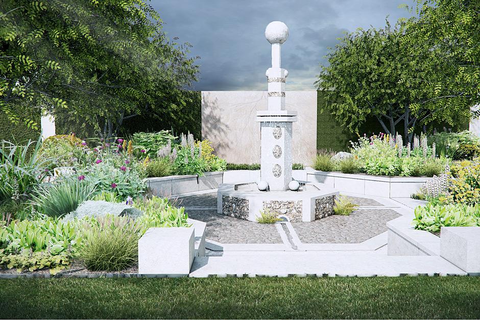 Cleve West paradise garden Chelsea 2014