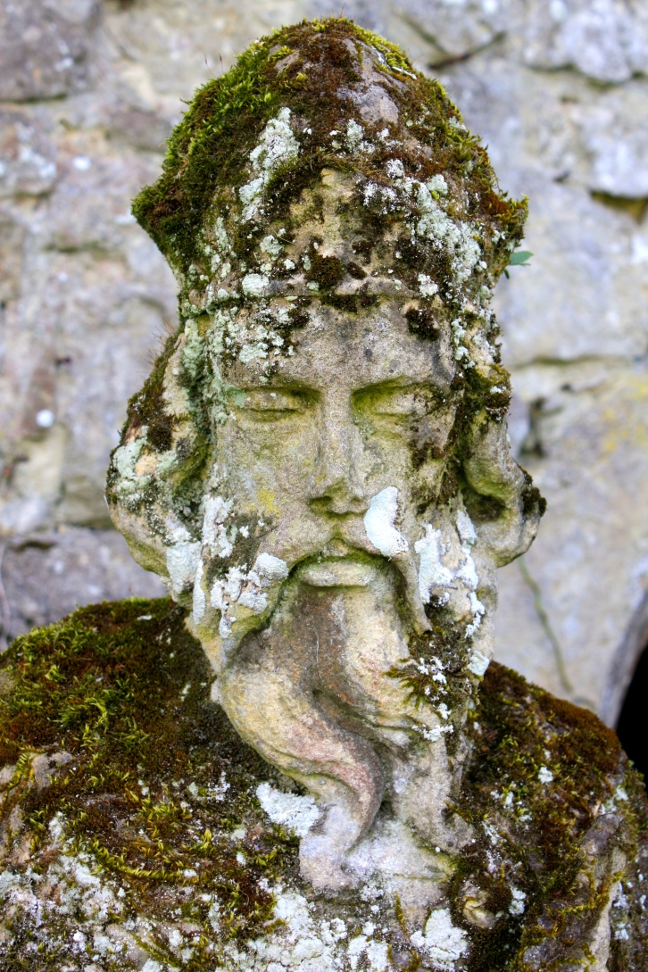 Solemn statue, Saltwood Castle, May 2014