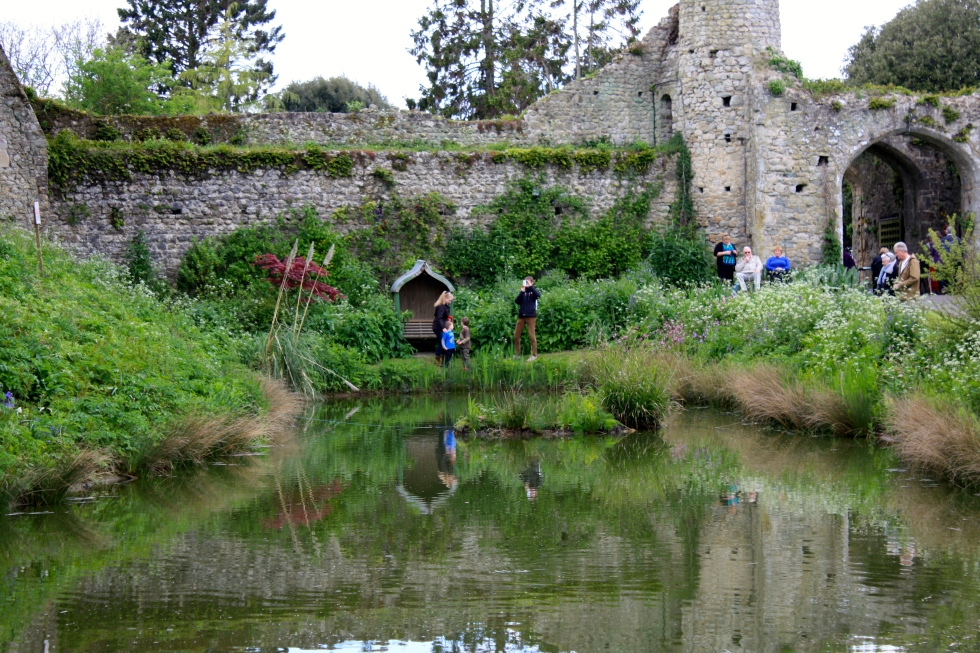 The inner moat, Saltwood Castle, May 2014