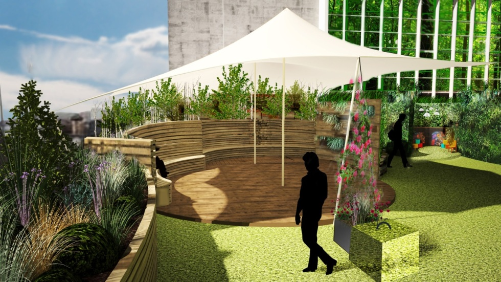 Concept drawing for John Lewis roof garden