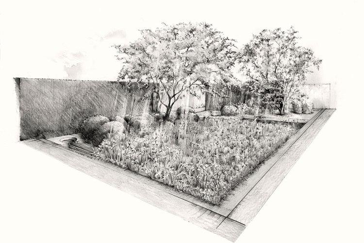 Luciano Giubbilei's Laurent Perrier Garden Design for Chelsea 2014