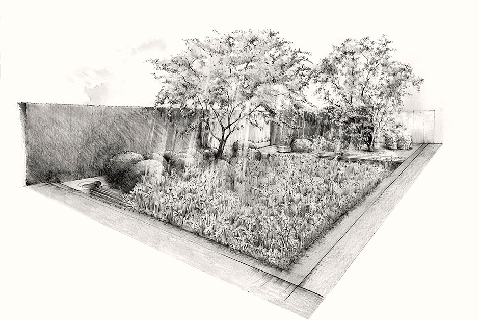 Luciano Giubbilei's Laurent Perrier Garden Design for Chelsea 2014