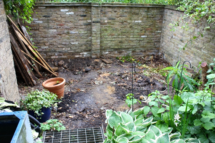 Our London Garden, starting the new raised beds, June 2014