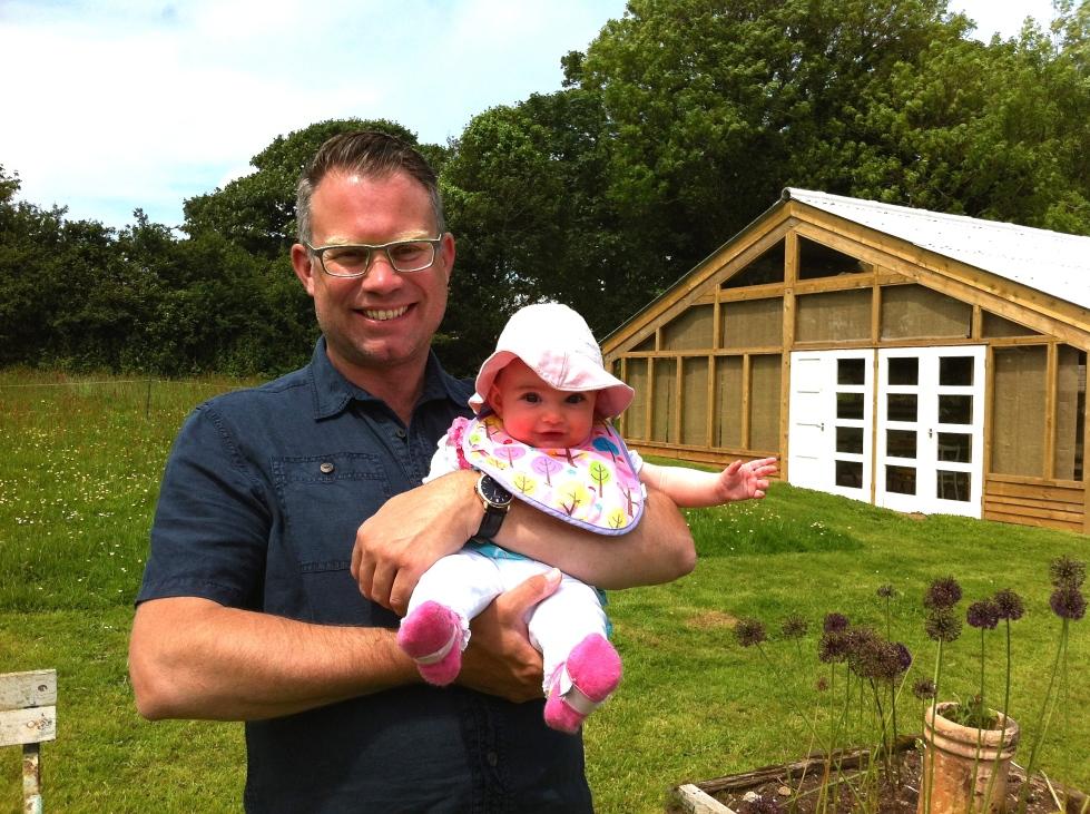 Me and Martha, Trevoole Farm, June 2014