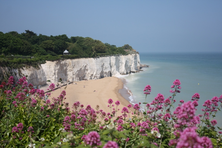 Broadstairs is famous for its seven sandy bays, each backed by gleaming white cliffs
