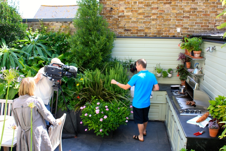 Him Indoors during the filming of Alan Titchmarsh's Garden Secrets in 2009