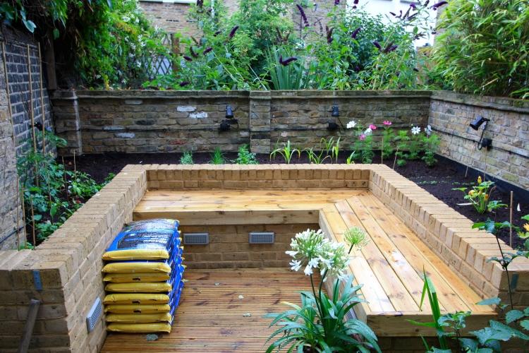 Our London Garden, vegetable garden, July 2014