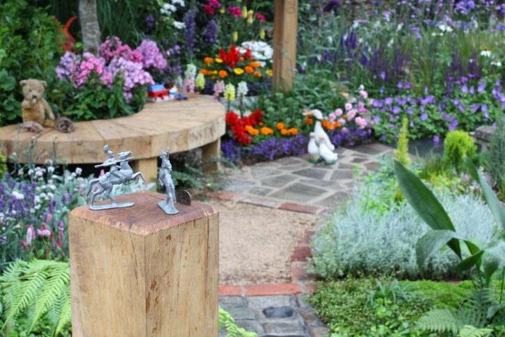 A little bit of joyful whimsy, the NSPCC Legacy Garden depicts garden styles from the Victorian era to the present day