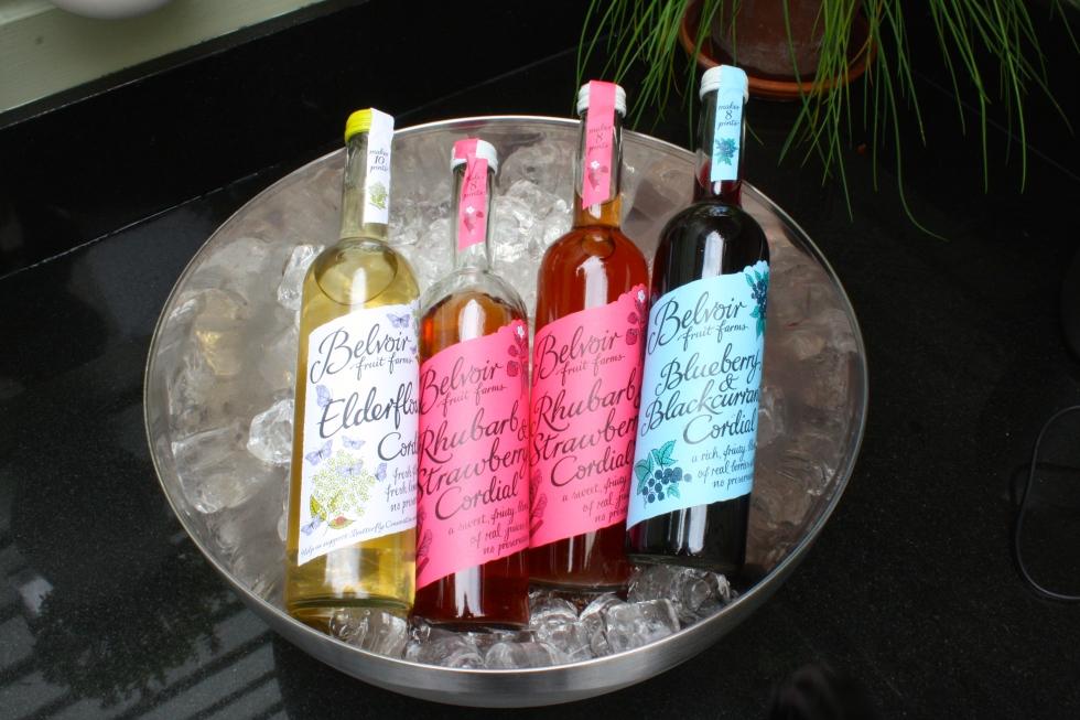 Refreshing Belvoir cordials were kept on ice