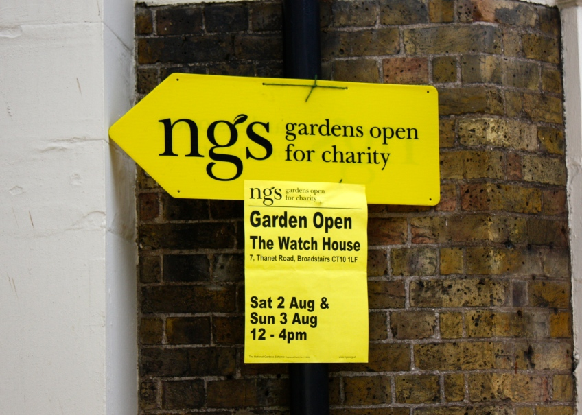 National Gardens Scheme signage for The Watch House