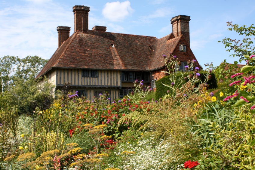 Great Dixter House from the Long Border
