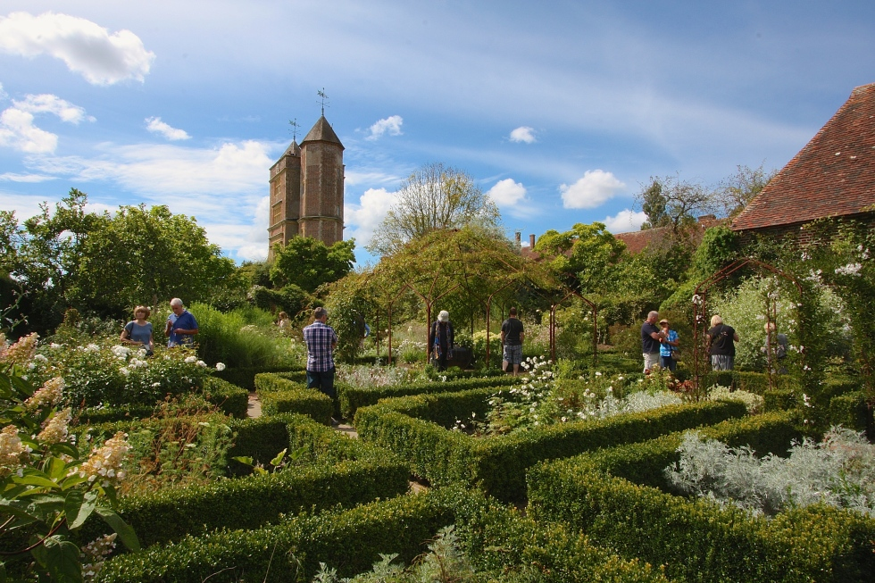 Sissinghurst's White Garden still looks superb after a dry summer