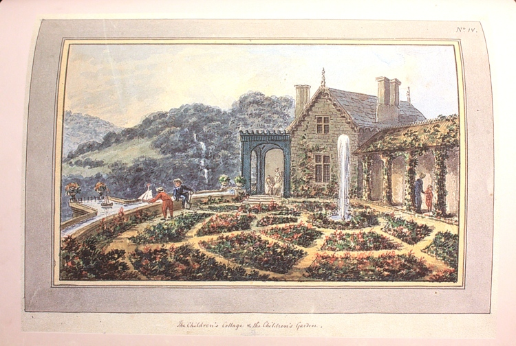 Repton's adjustments to Wyatt's parterre, which included a small boating pool, appear not to have been made.