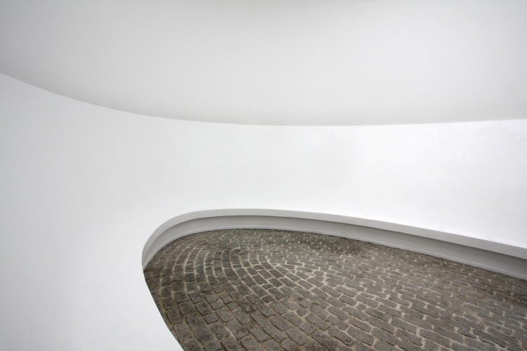 James Turrell describes his piece 'Twilight in Cornwall' as a temple-like 'skyspace'