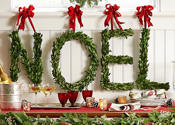 Williams Sonoma Myrtle Letter Wreath, Christmas 2014