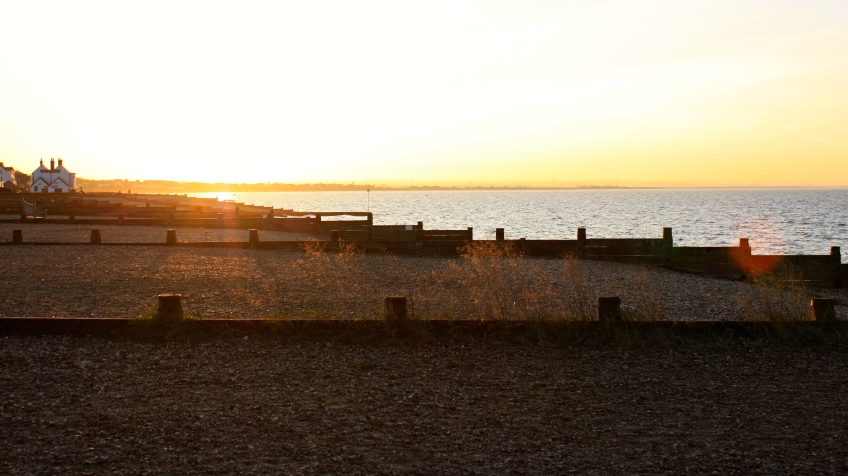 Whistable beach, looking towards The Neptune