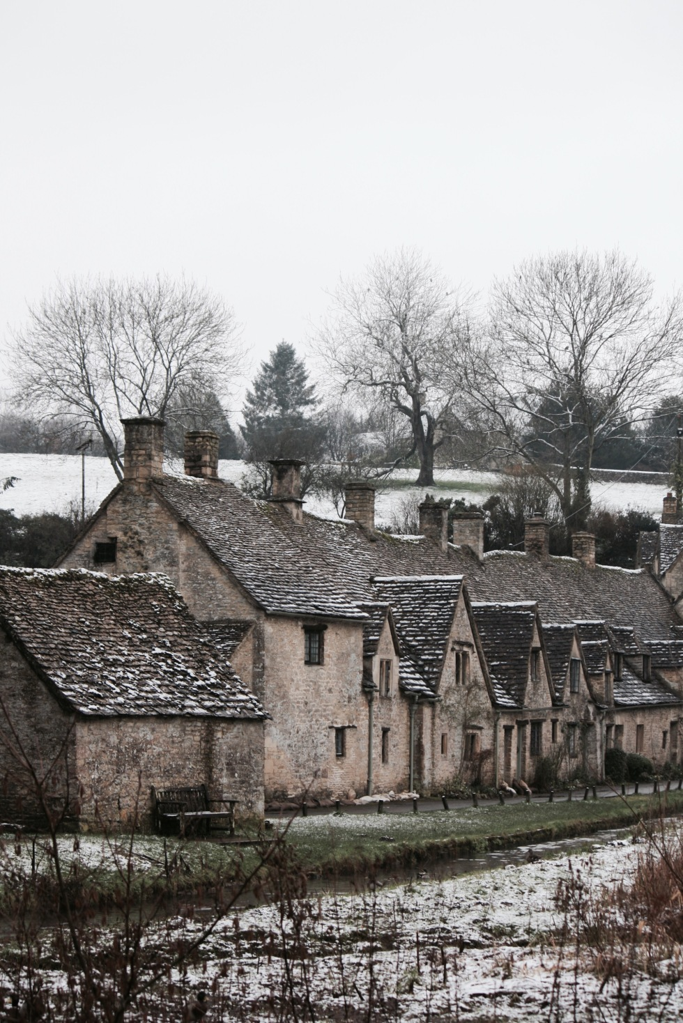 Arlington Row, Bibury, February 2013