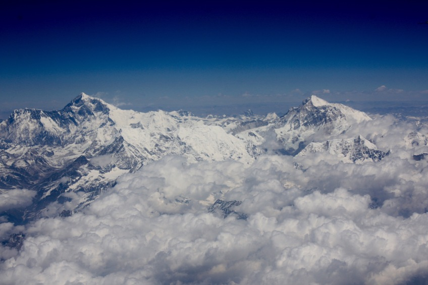 Mount Everest from the air, April 2013