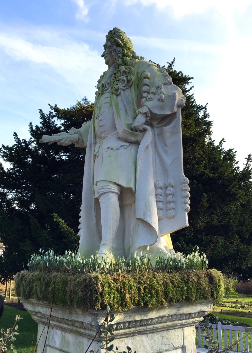 Dr. Hans Sloane - A fine gentleman, overlooking his fine garden