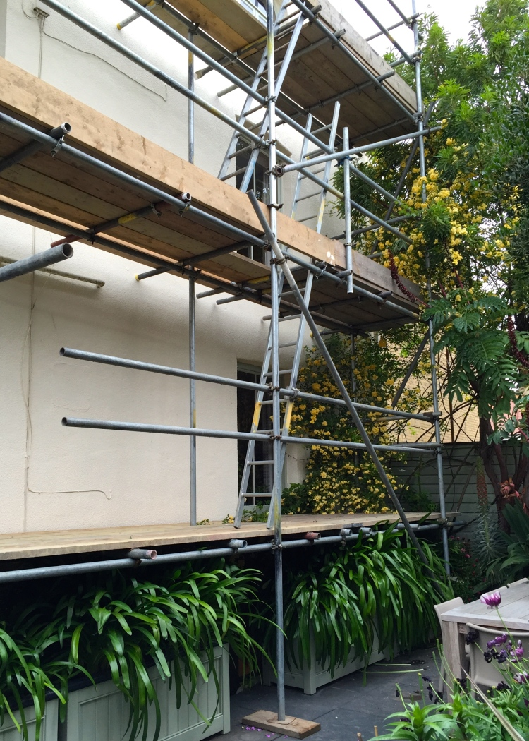 The Watch House, scaffolding, May 2015