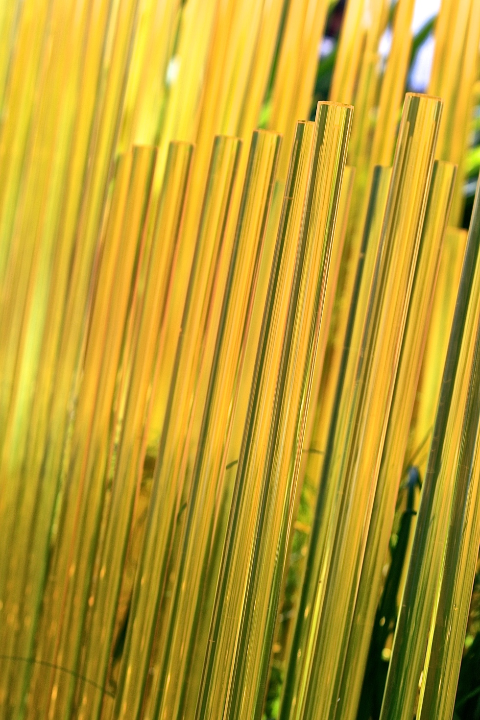 Fluorescent yellow rods, The World Vision Garden, John Warland, Chelsea 2015